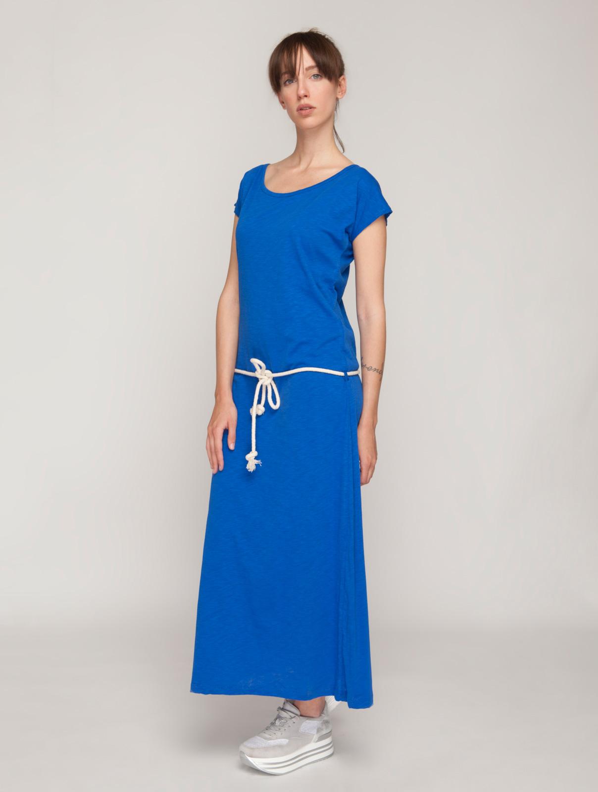 Μάξι Φόρεμα με Ζώνη Σχοινί
