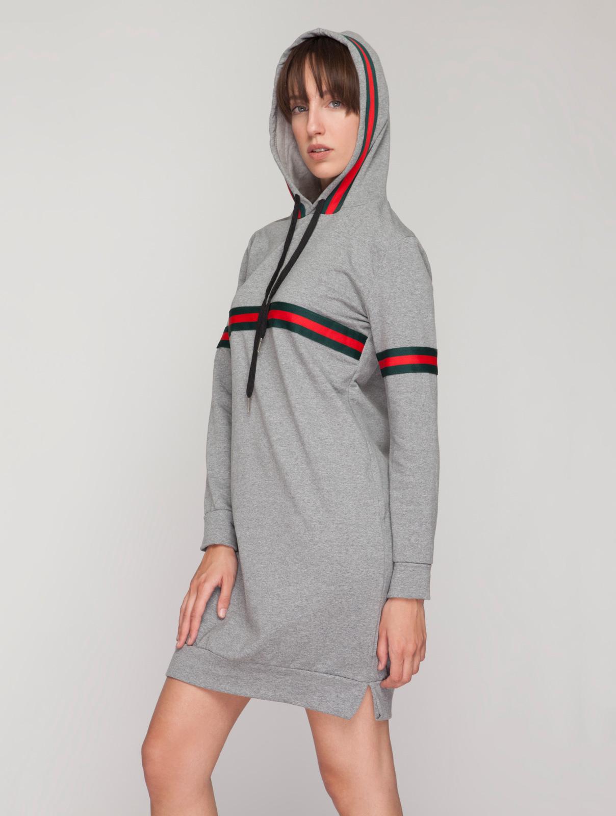 Μίνι Casual Φόρεμα με Κουκούλα