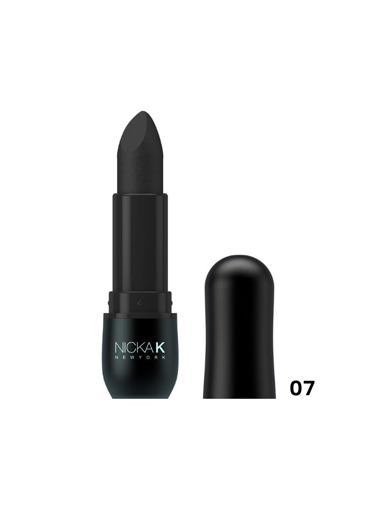 Nicka K New York Vivid Matte Lipstick Black -07 3,5gr