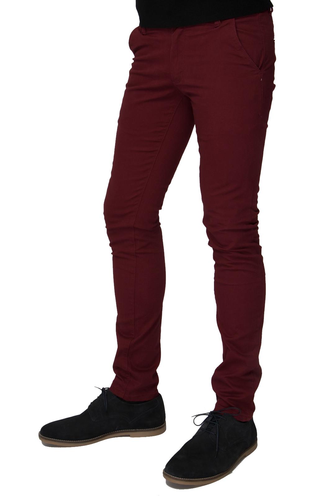 Βαμβακερό Παντελόνι Τσίνο Skinny Fit - Μπορντό