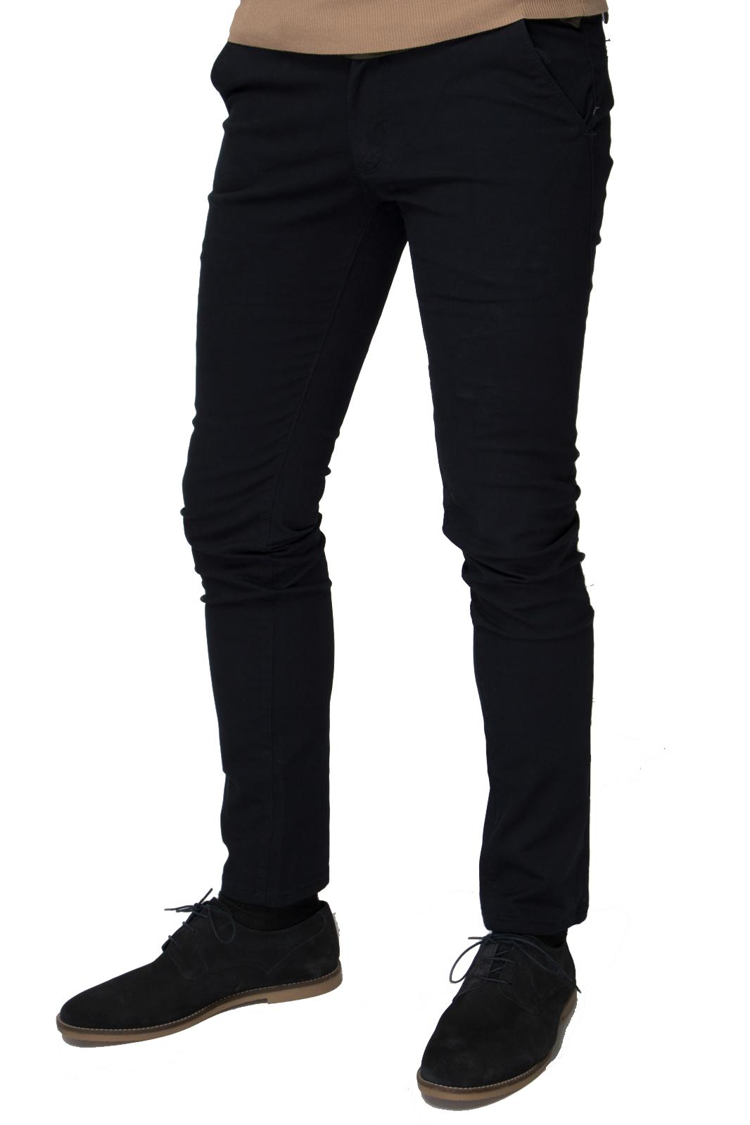 Βαμβακερό Παντελόνι Τσίνο Skinny Fit - Dark Blue