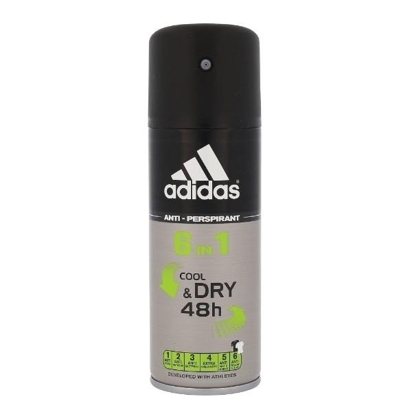 Adidas 6in1 Cool & Dry 48h Antiperspirant 150ml (Deo Spray)