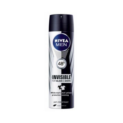 Nivea Men Invisible For Black & White 48h Antiperspirant 150ml Alcohol Free (Deo Spray)
