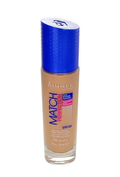 Rimmel London Match Perfection Spf20 Makeup 30ml 100 Ivory