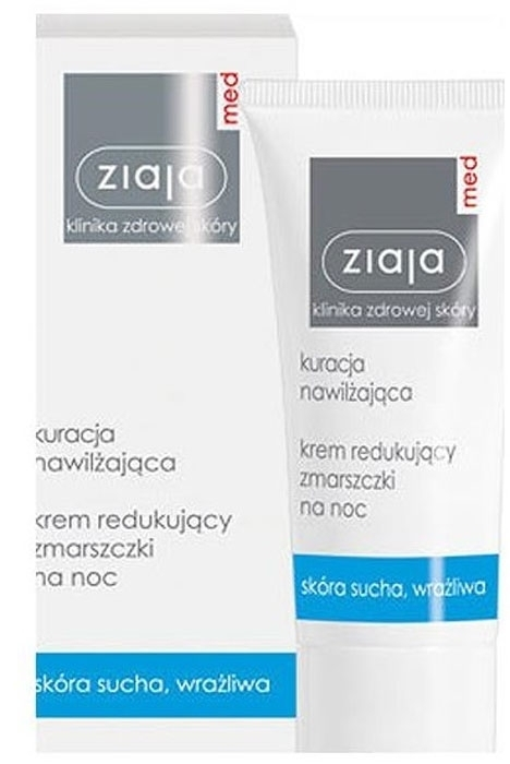 Ziaja Med Anti-wrinkle Treatment Smoothing Night Cream Night Skin Cream 50ml (Wrinkles - All Skin Types)