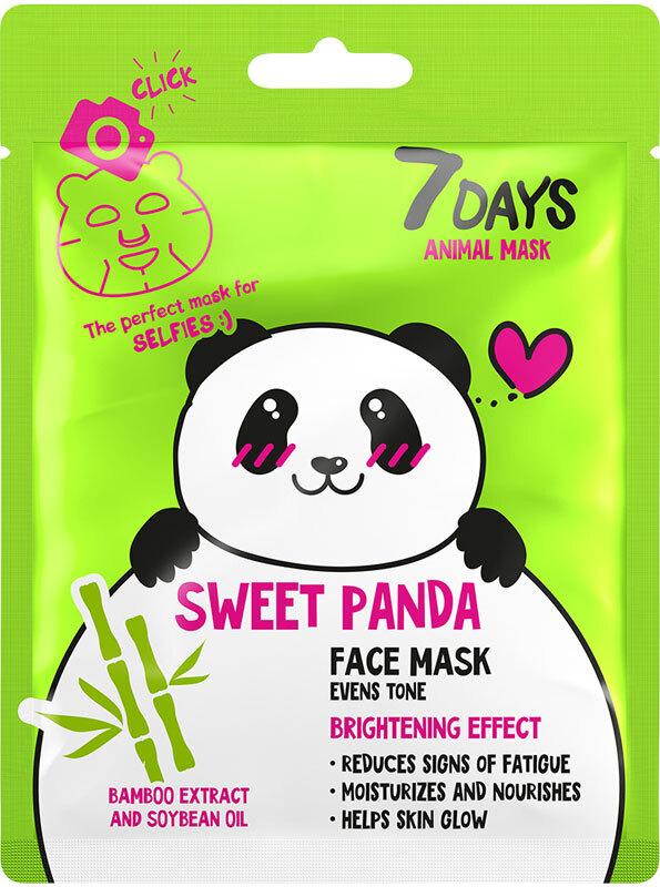 7Days Animal Mask Face Mask Sweet Panda Evens Skin Tone 28gr