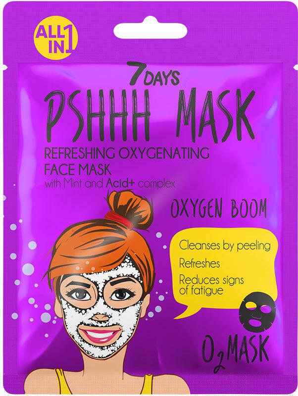 7Days Pshhh Mask Refreshing Oxygen Face Mask Oxygen Boom 25gr