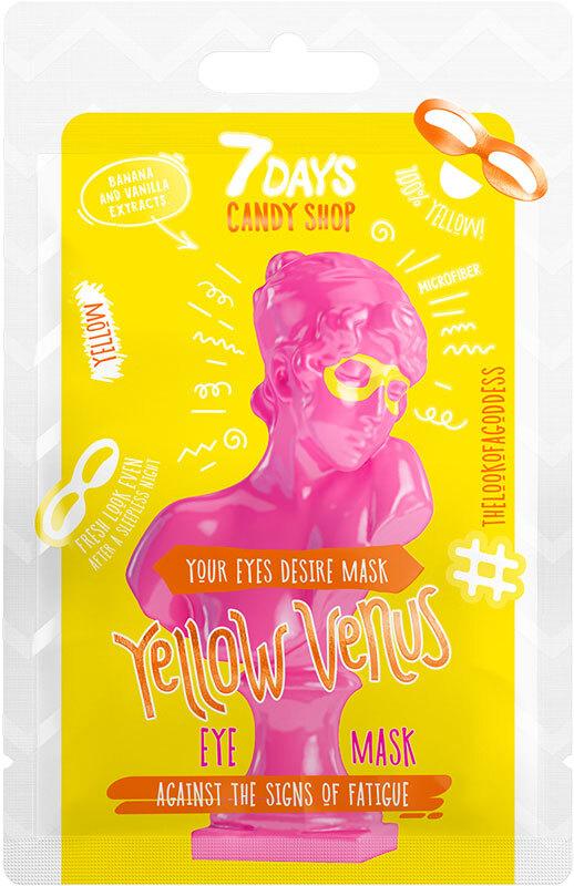 7Days Candy Shop Eye Mask Yellow Venus Banana And Vanilla 10gr