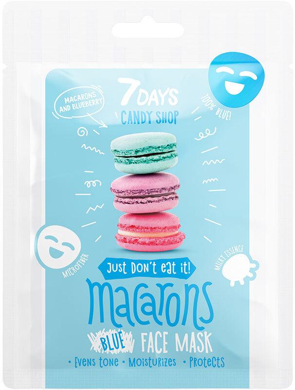 7Days Candy Shop Face Mask Macarons Blueberry Yogurt 25gr