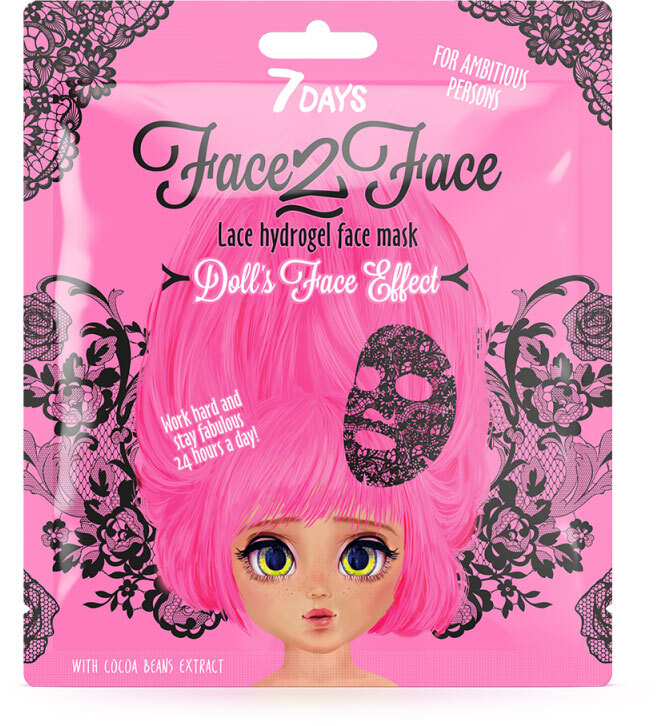 7Days Face-2-Face Lace Hydrogel Mask Cocoa Beans 28gr