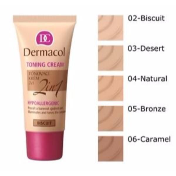 Dermacol Toning Cream 2in1 30ml All Skin Types Bronze