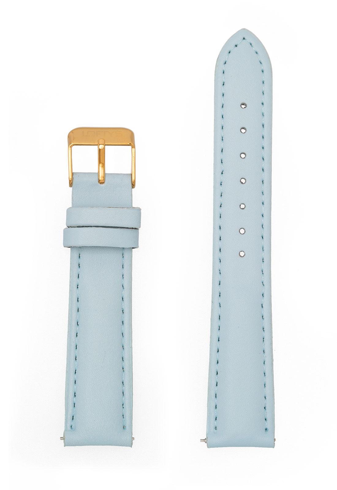 Σιέλ Δερμάτινο Λουράκι Ρολογιού 18mm με Αγκράφα
