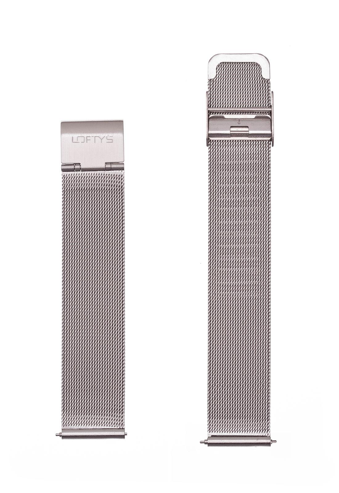 Μπρασελέ Ρολογιού σε Ασημί - Mesh 18mm