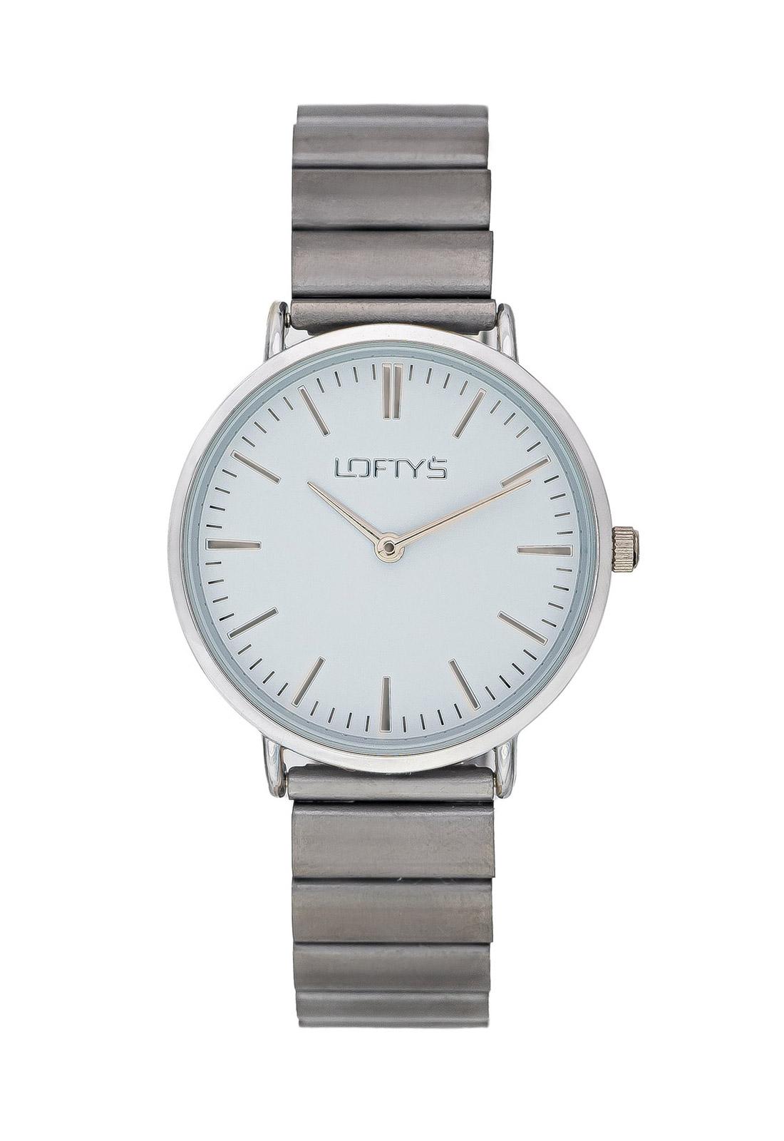 Ρολόι Loftys Corona Γκρι Μπρασελέ Λευκό Καντράν Y2016-11