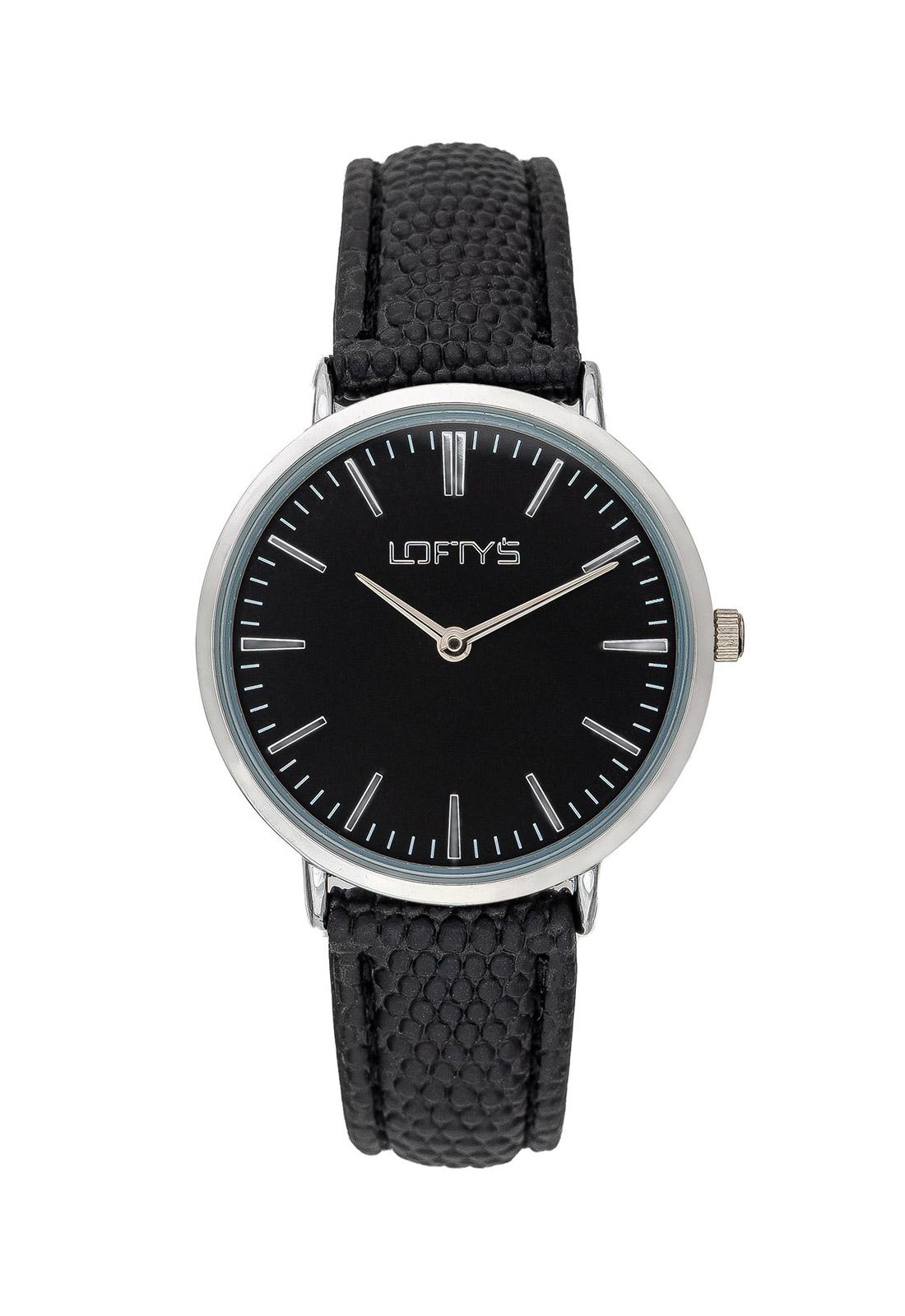 Ρολόι Loftys Corona Μαύρο Λουράκι και Καντράν Y2016-21