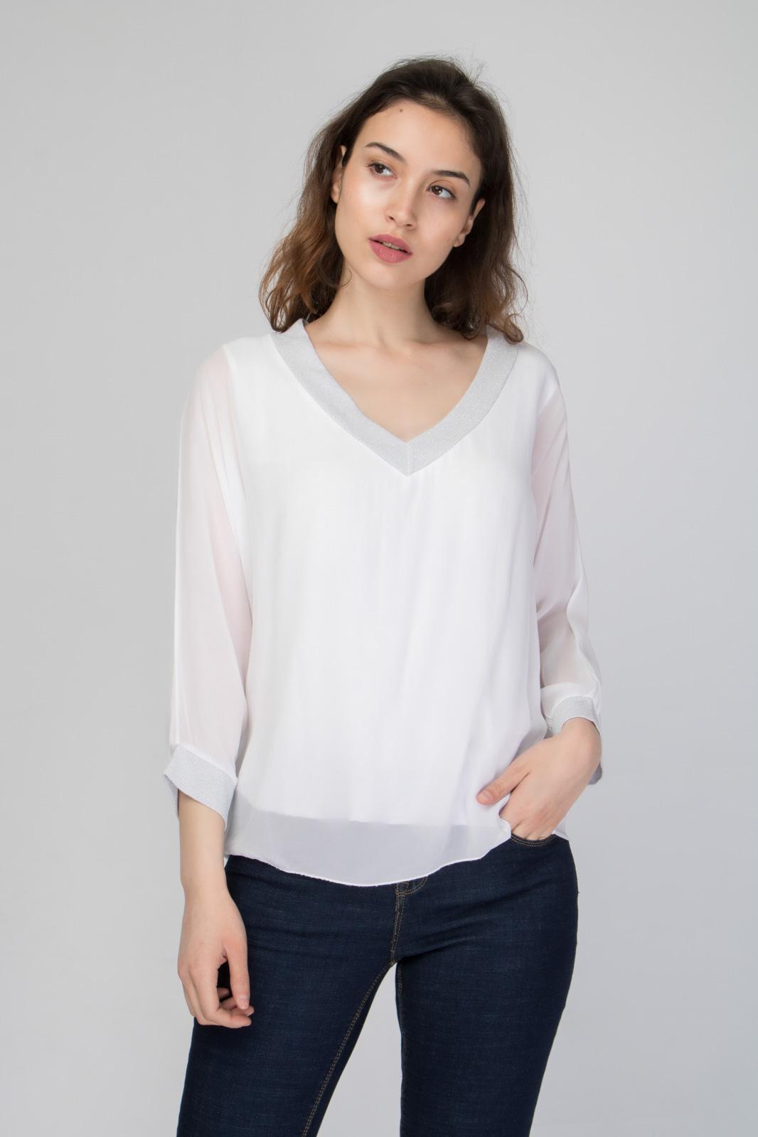 Μπλούζα με Βαθιά V Λαιμόκοψη