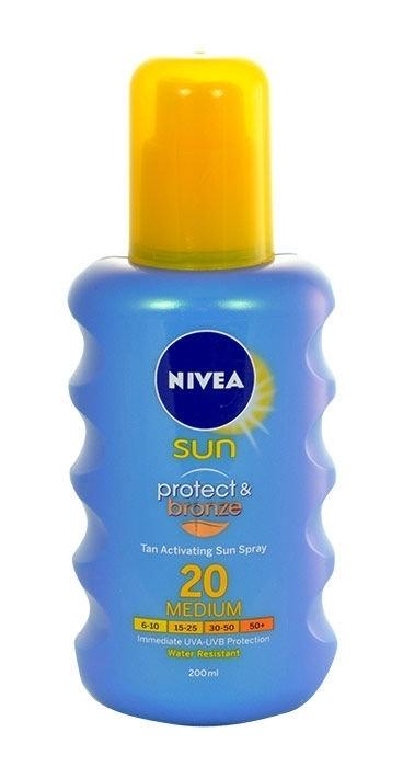 Nivea Sun Protect & Bronze Sun Body Lotion 200ml Spf20