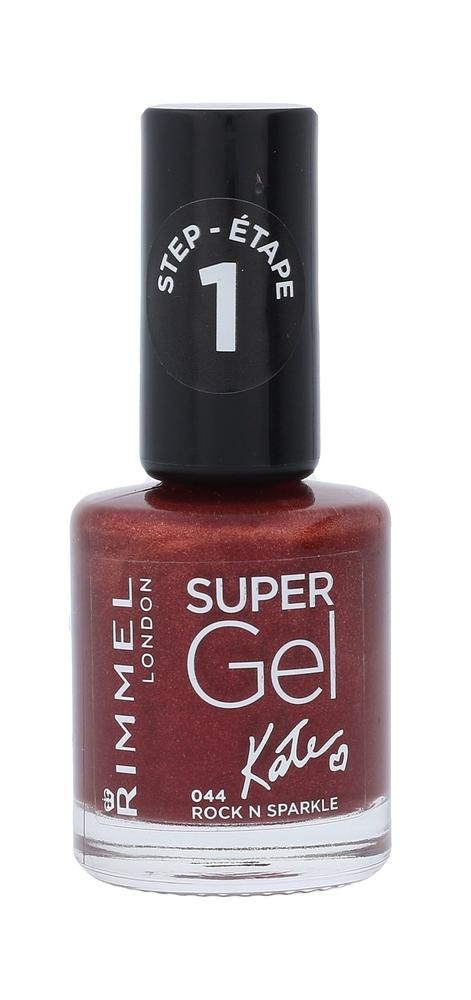 Rimmel London Super Gel By Kate Step1 Nail Polish 12ml 044 Rock N Sparkle