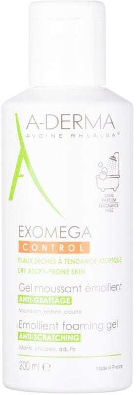A-derma Exomega Control Emollient Foaming Gel Shower Gel 200ml