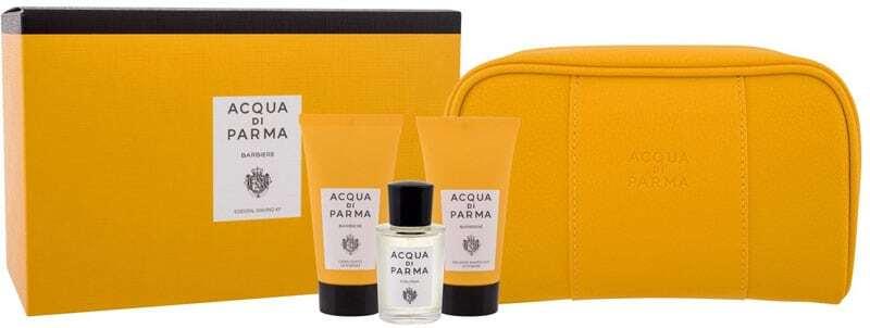 Acqua Di Parma Collezione Barbiere Shaving Cream 40ml Combo: Edc Colonia 20 Ml + Shaving Cream 40 Ml + Aftershave Emulsion 40 Ml + Cosmetic Bag
