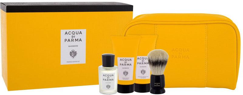 Acqua Di Parma Colonia Eau de Cologne 20ml Combo: Eau De Cologne 20 Ml + Shaving Cream 40 Ml + Aftershave Balm 40 Ml + Shaving Brush 1 Pc + Cosmetic Bag