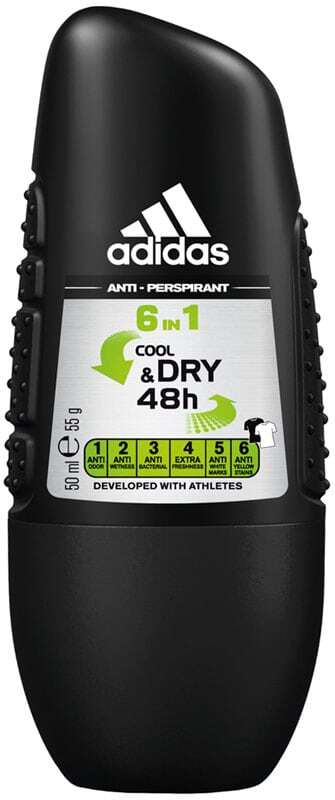 Adidas 6in1 Cool & Dry 48h Antiperspirant 50ml (Roll-On)