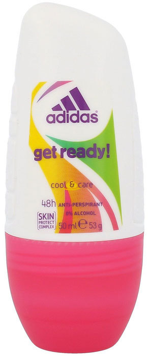 Adidas Get Ready! For Her 48h Antiperspirant 50ml (Roll-On - Alcohol Free)
