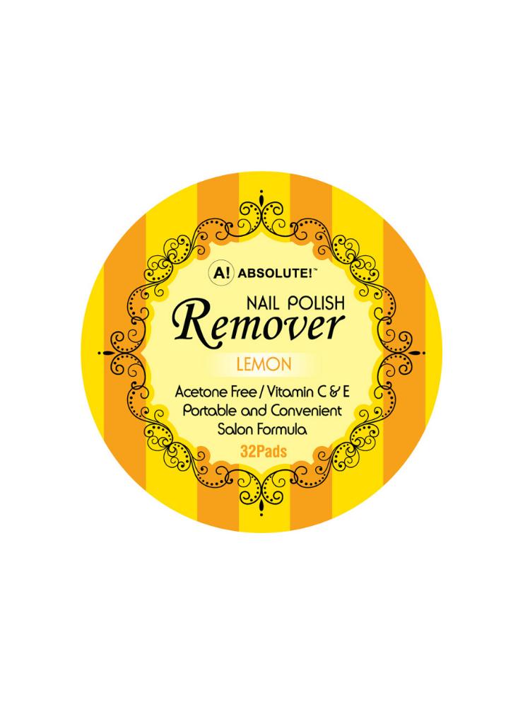 Nicka K New York Nail Polish Remover-Lemon 32 Pads 2,5ml