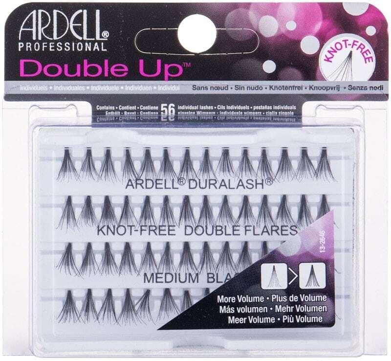 Ardell Double Up Duralash Knot-Free Double Flares False Eyelashes Medium Black 56pc