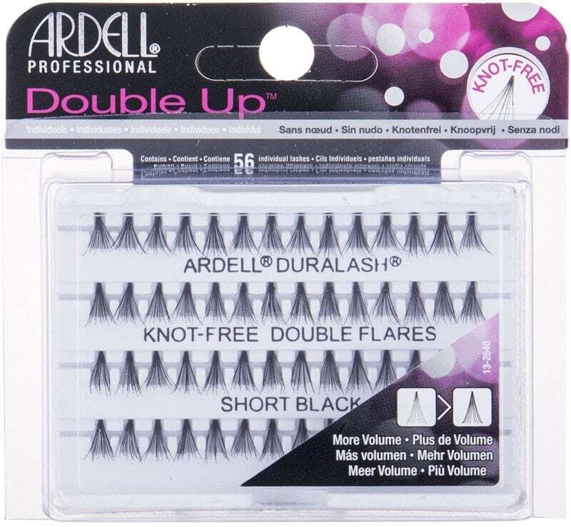 Ardell Double Up Duralash Knot-Free Double Flares False Eyelashes Short Black 56pc
