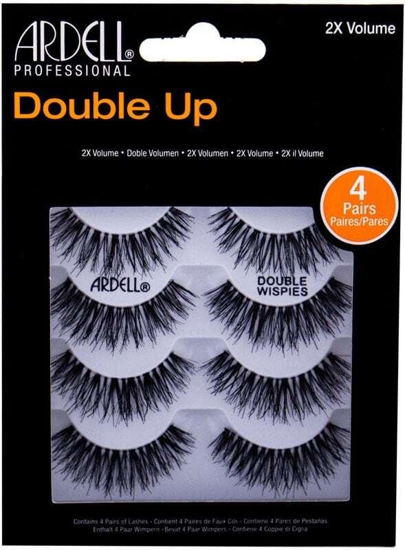 Ardell Double Up Wispies False Eyelashes Black 4pc