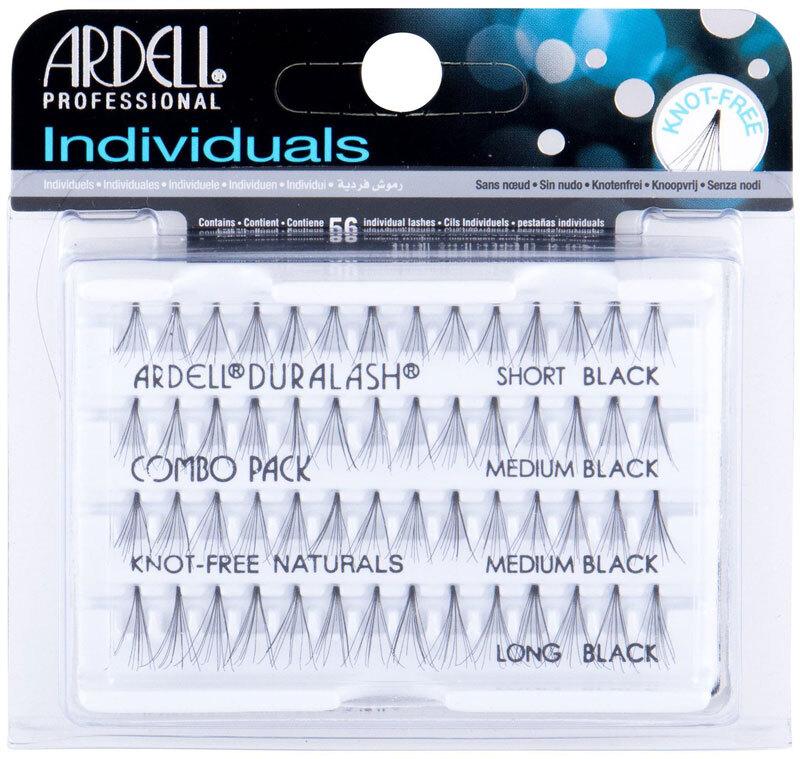 Ardell Individuals Duralash Knot-Free Naturals Combo Pack False Eyelashes Black 56pc