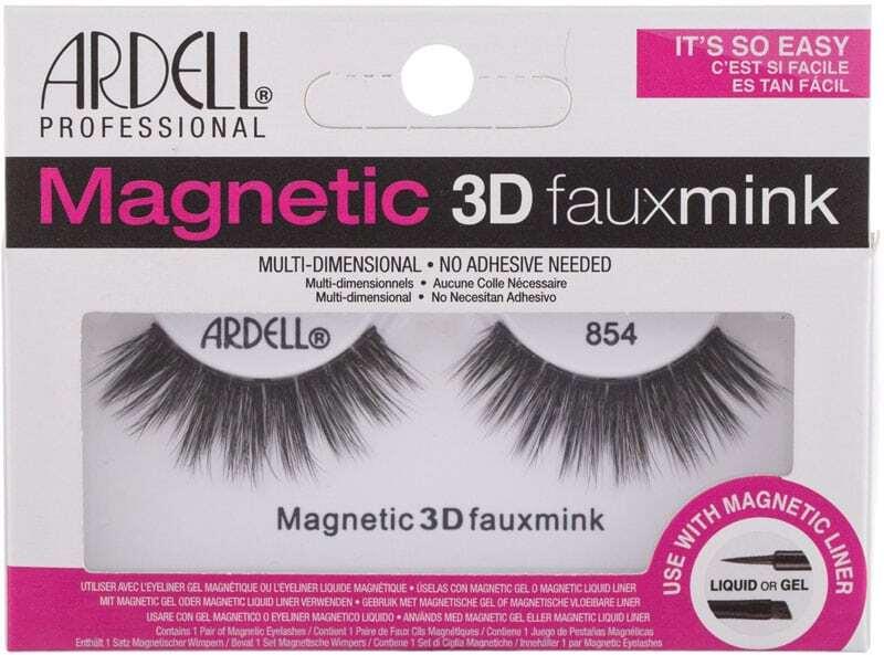 Ardell Magnetic 3D Faux Mink 854 False Eyelashes Black 1pc