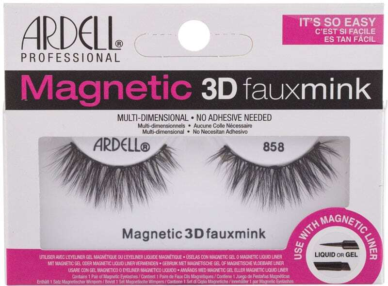 Ardell Magnetic 3D Faux Mink 858 False Eyelashes Black 1pc