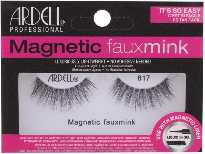 Ardell Magnetic Faux Mink 817 False Eyelashes Black 1pc
