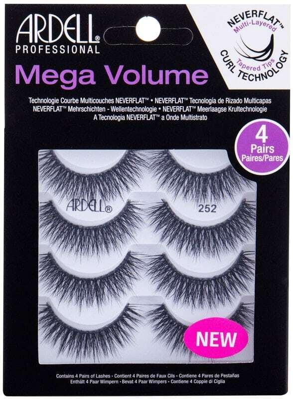 Ardell Mega Volume 252 False Eyelashes Black 4pc
