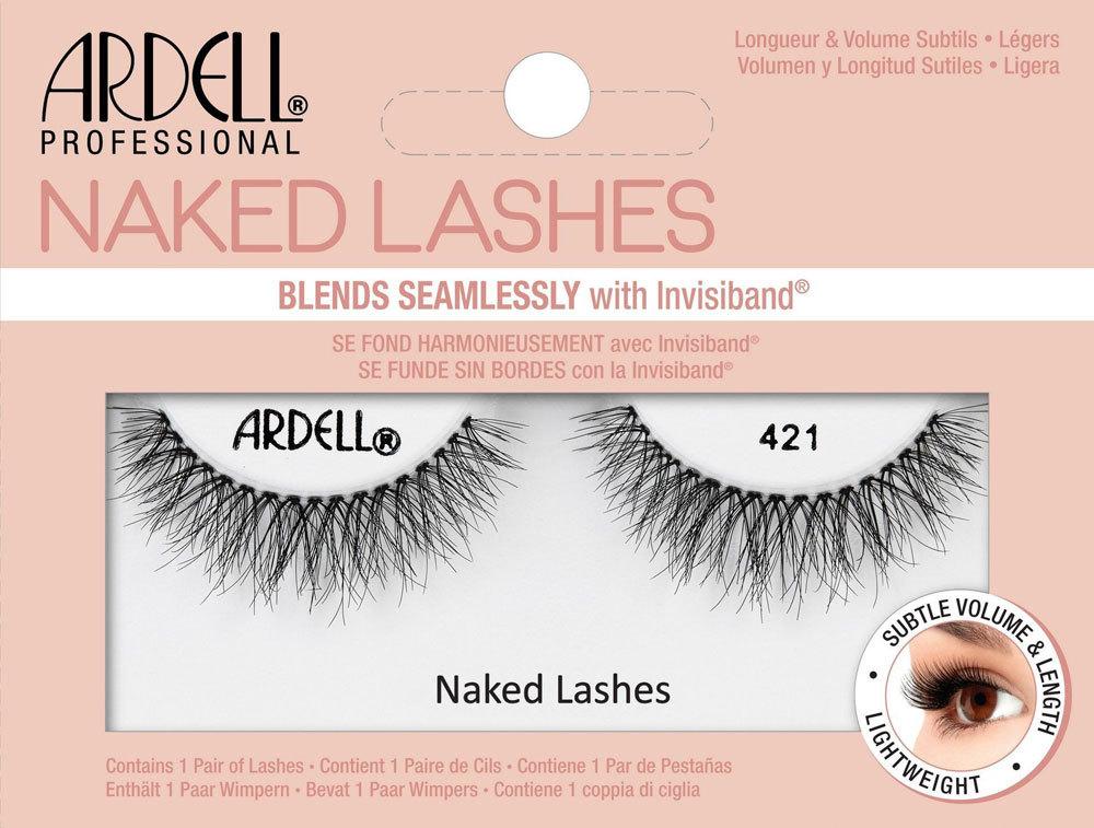 Ardell Naked Lashes 421 False Eyelashes Black 1pc
