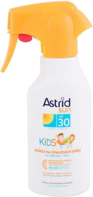 Astrid Sun Kids Face and Body Spray SPF30 Sun Body Lotion 200ml (Waterproof)