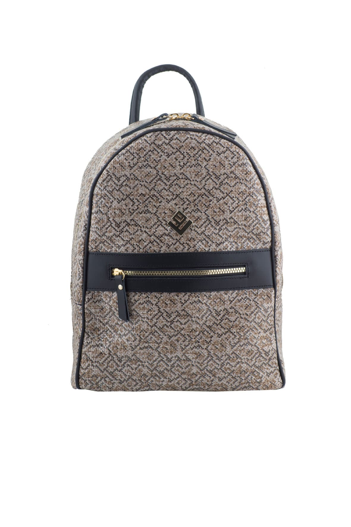 Basic Stitch Backpack Brown