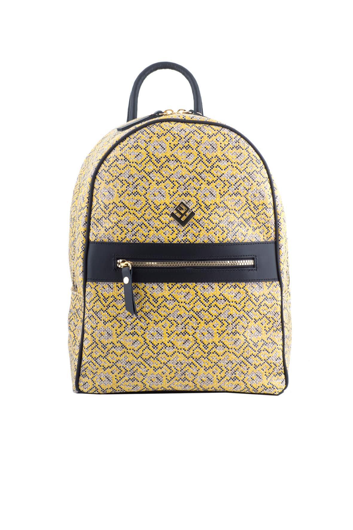 Basic Stitch Backpack Yellow