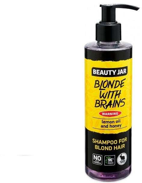 "Beauty Jar ""BLONDE WITH BRAINS"" Σαμπουάν για ξανθά μαλλιά 250ml"