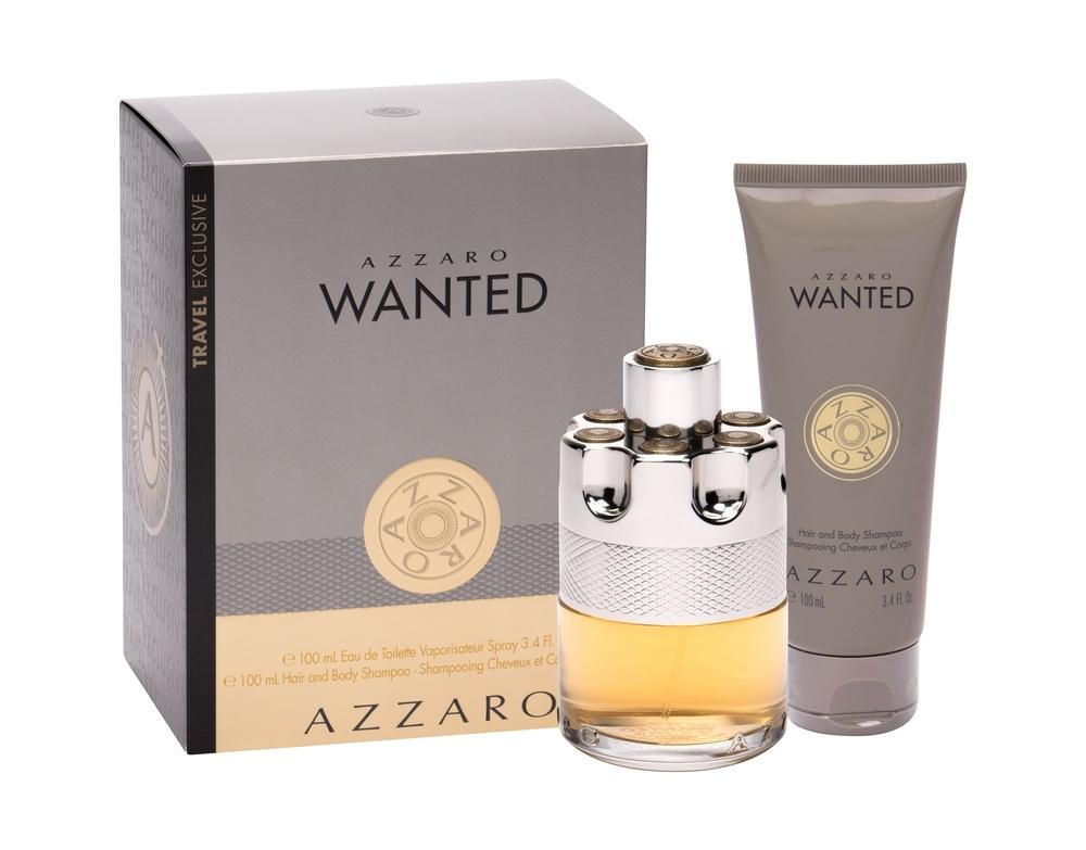 Azzaro Wanted Eau De Toilette 100ml - Set Combo Edt 100 Ml + Shower Gel 100 Ml
