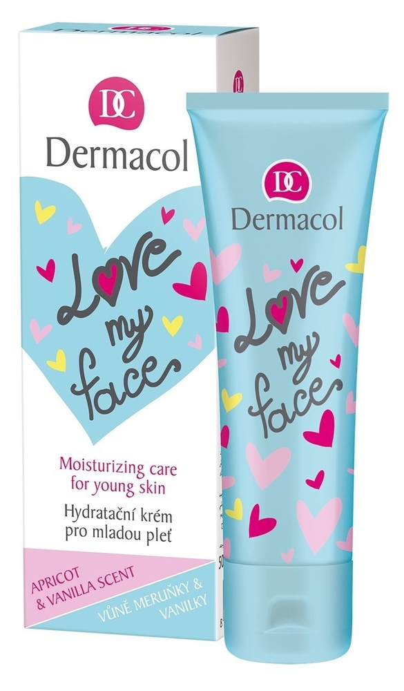 Dermacol Love My Face Moisturizing Care Day Cream 50ml (Young Skin - All Skin Types)