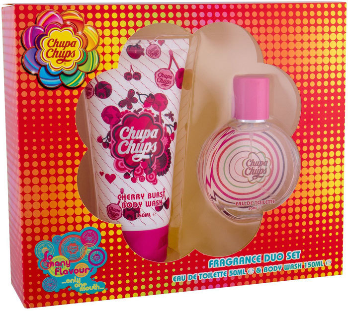 Chupa Chups Cherry Burst Eau de Toilette 50ml Combo: Edt 50 Ml + Shower Gel 150 Ml