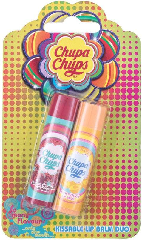 Chupa Chups Lip Balm Kissable Lip Balm Duo Lip Balm Juicy Watermelon 4gr Combo: Lip Balm 4 G + Lip Balm 4 G Peach Passion