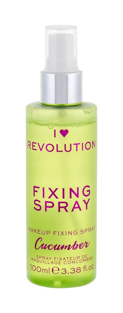Makeup Revolution London I Heart Revolution Fixing Spray Make - Up Fixator 100ml Cucumber