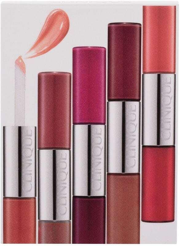 Clinique Pop Splash Combo: Lip Shine 2,8ml Rosewater/Juicy Apple + Lip Shine 2,8ml Sorbet/Fruity + Lip Shine 2,8ml Watermelon/Vino + Lip Shine 2,8ml Adore U/Fireberry + Lip Shine 2,8ml Air Kiss