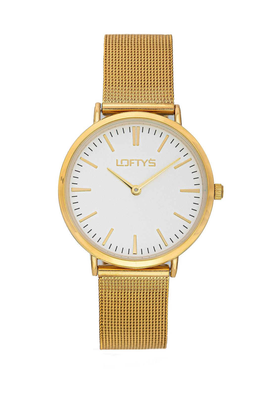 Ρολόι Loftys Corona Χρυσό Μπρασλέ Λευκό Καντράν Y2016-22