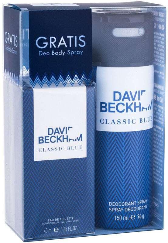 David Beckham Classic Blue Eau de Toilette 40ml Combo: Edt 40 Ml + Deodorant 150 Ml