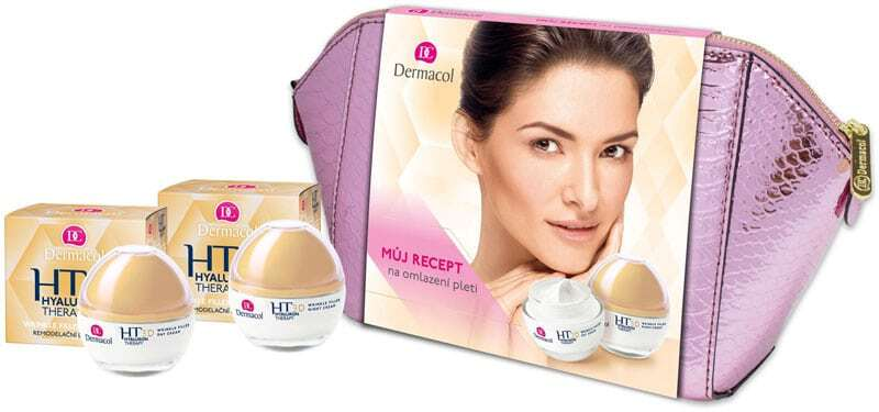 Dermacol 3D Hyaluron Therapy Day Cream 50ml Combo: Wrinkle Filler Day Cream 50 Ml + Wrinkle Filler Night Cream 50 Ml + Cosmetic Bag (Wrinkles)